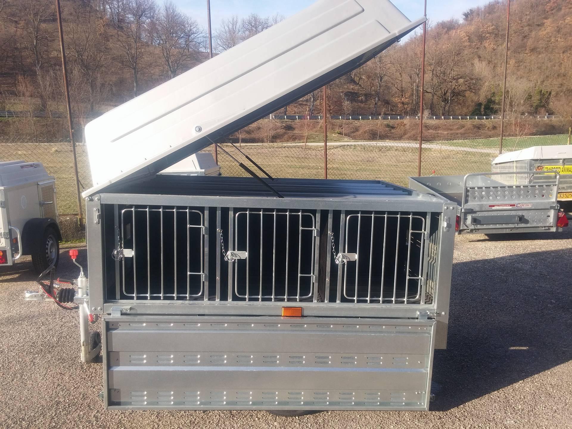 Carrello Cresci TC 6 comparti trasporto animali